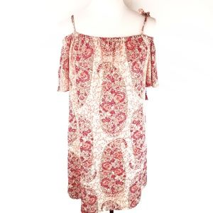 Madewell Silk Paisley Watercolor Dress